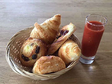 Complimentary Bloody Mary & French pastries at Piglets Boutique B&B