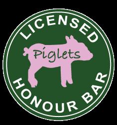 Honour bar button | Piglets Boutique B&B