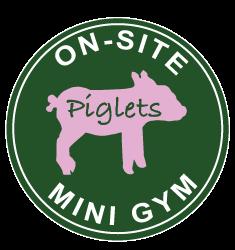 Mini gym button | Piglets Boutique B&B