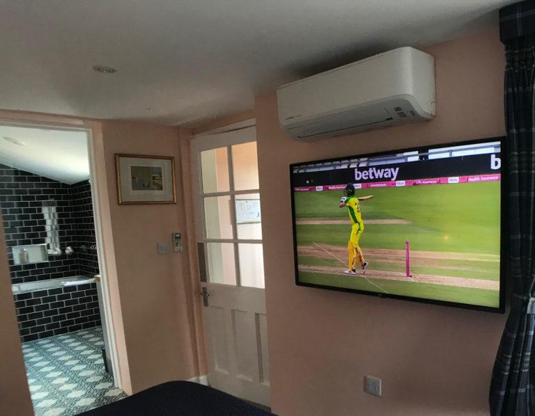 Smart TV in Radwinter bedroom | Smart TV in boutique B&B | Smart flat screen TV in luxury B&B | TV with Netflix in boutique B&B