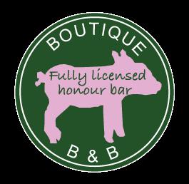 Fully licensed honour bar | B&B | Boutique B&B | Piglets Boutique B&B