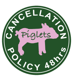 Cancellation policy 48hrs | Piglets Boutique cancellation policy