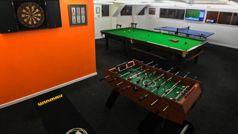 Games room at luxury B&B | Snnoker at B&B | Foosball at B&B | Table tennis at B&B | Luxury games at boutique B&B