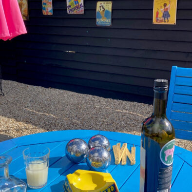 A corner of France in Essex | Smoke while watching Péntanque on our French patio