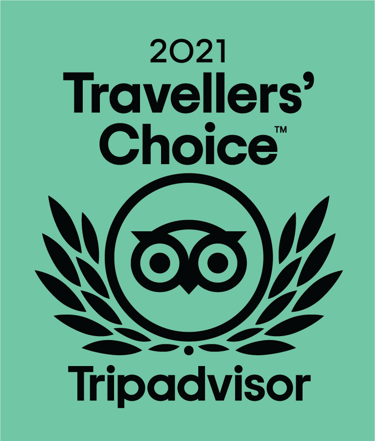 Travellers Choice Award for 2021 for boutique B&B | Travellers Choice Award for 2021 for luxury B&B
